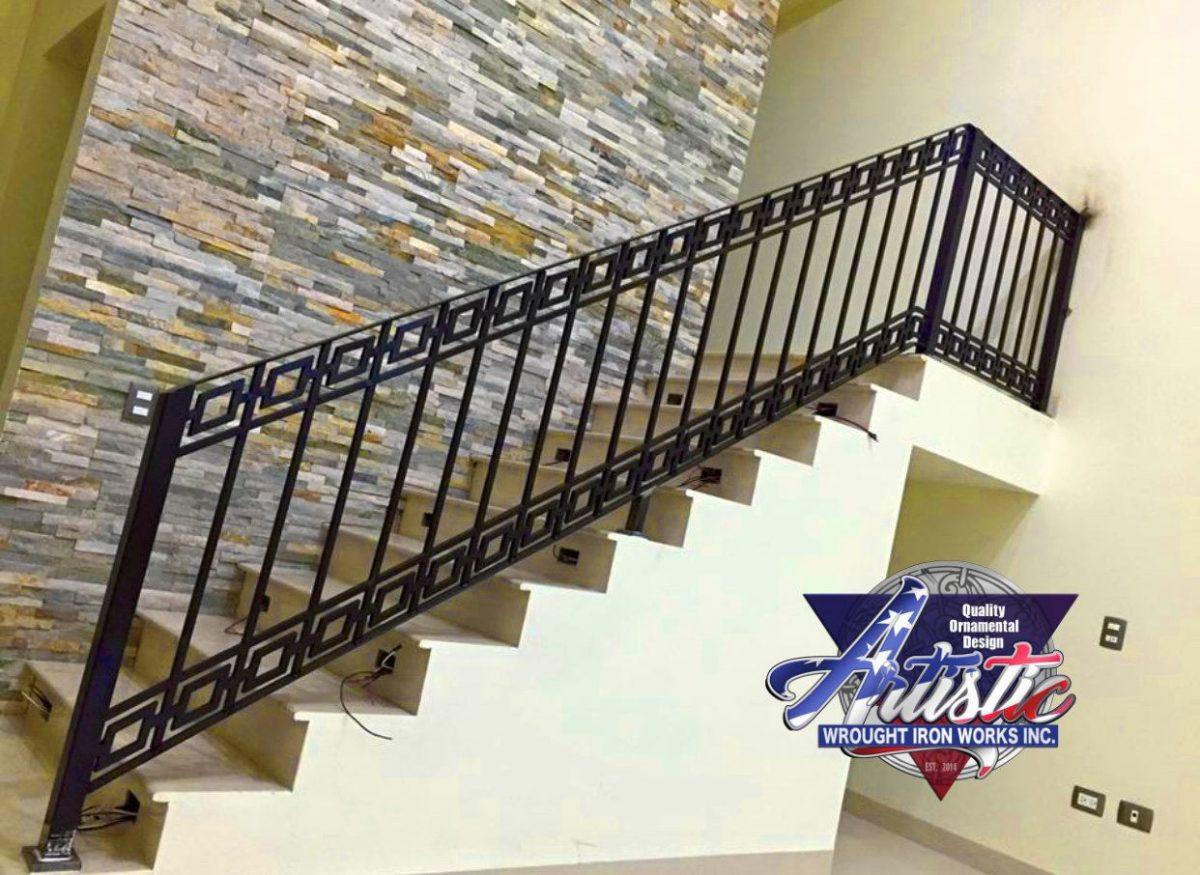 Diamond Modern Stair Railing Artistic Wrought Iron Works Inc